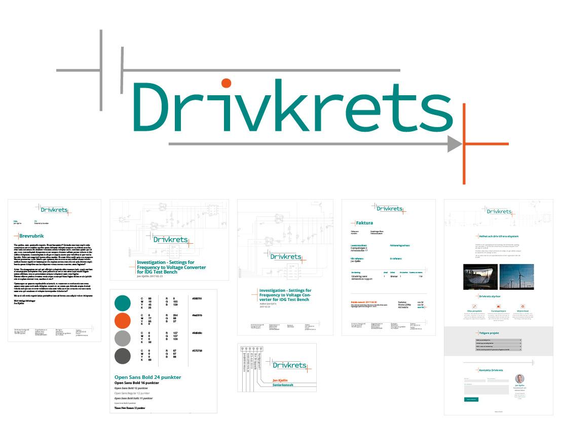 Logotyp grafiskprofil designkoncept