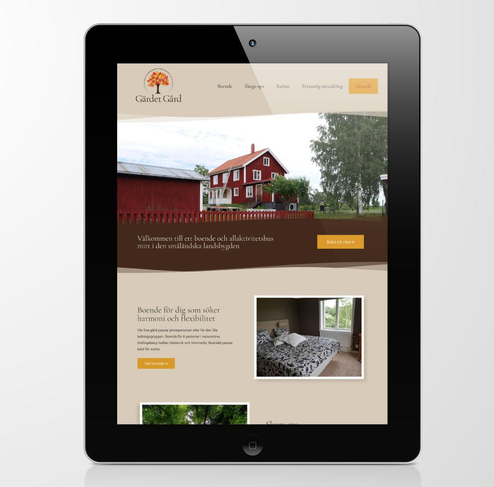Gärdet Gård hemsida webbplats