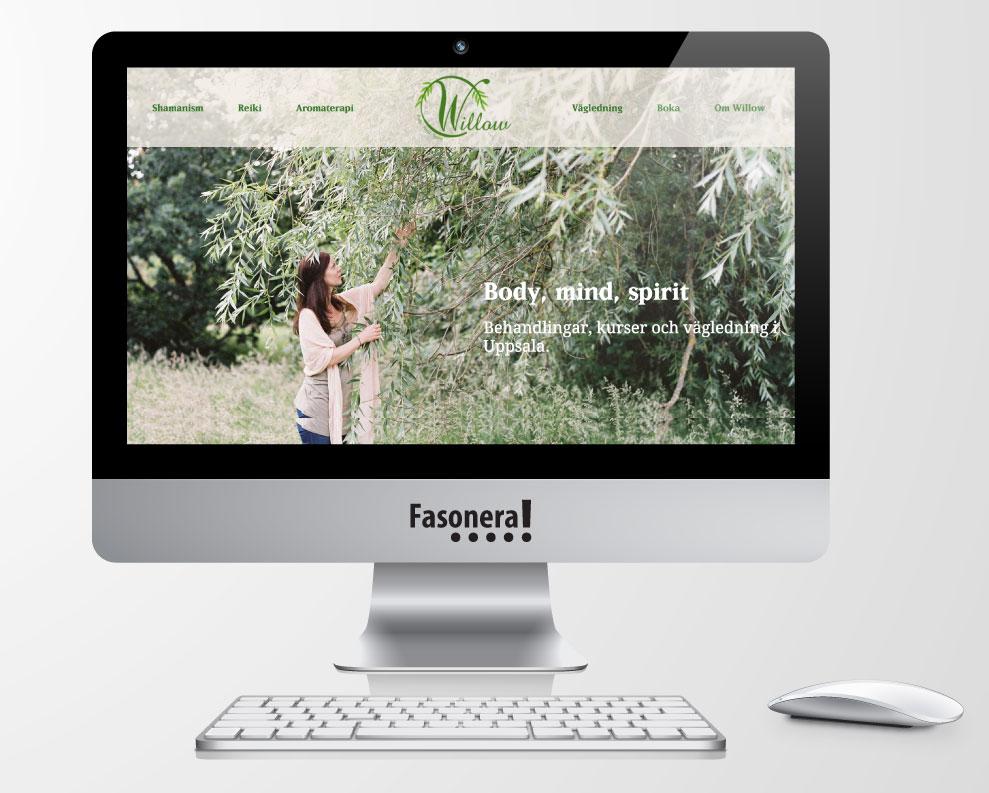 Willow hälsa hemsida webbplats