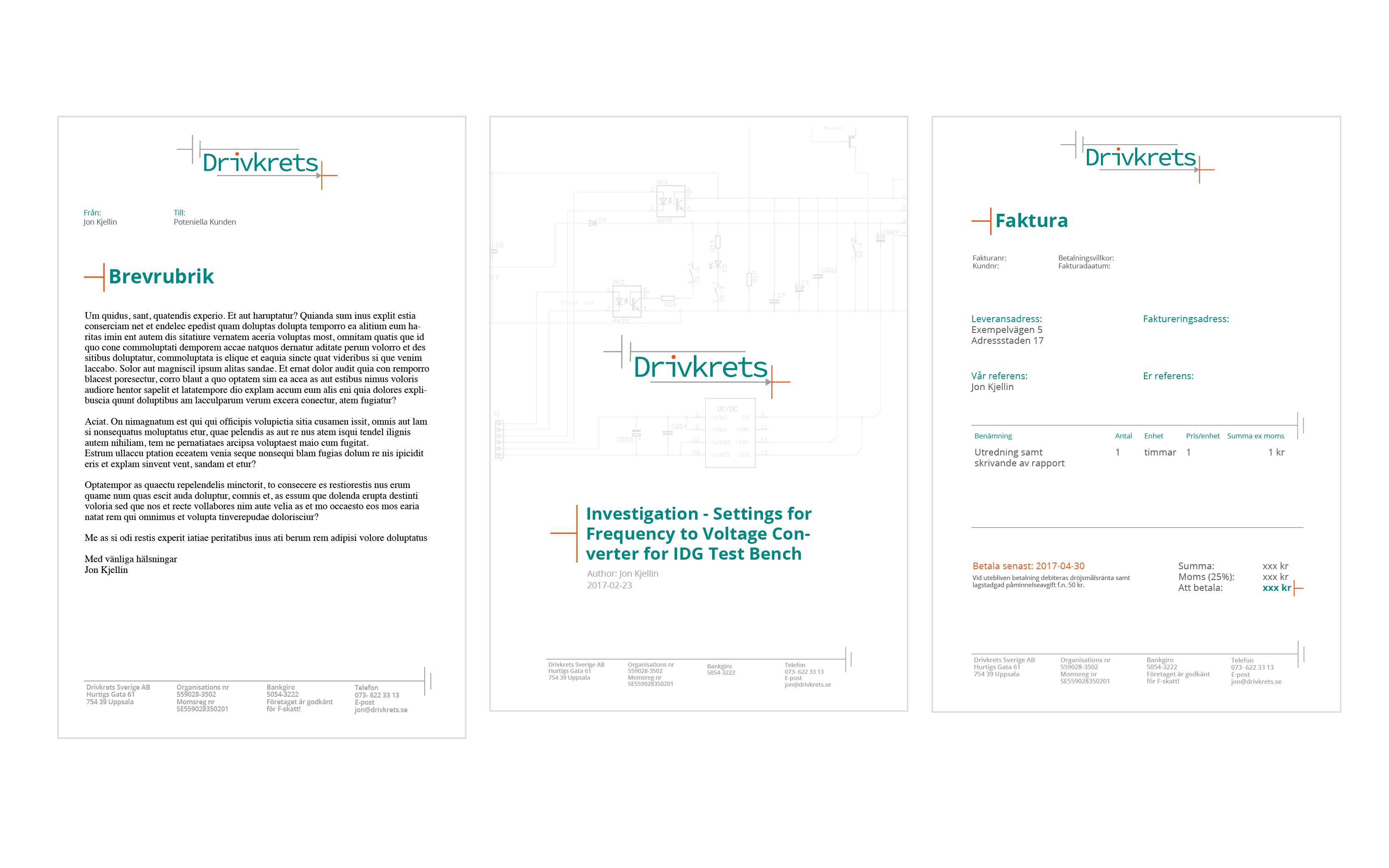 Grafisk profil mallar brevpapper