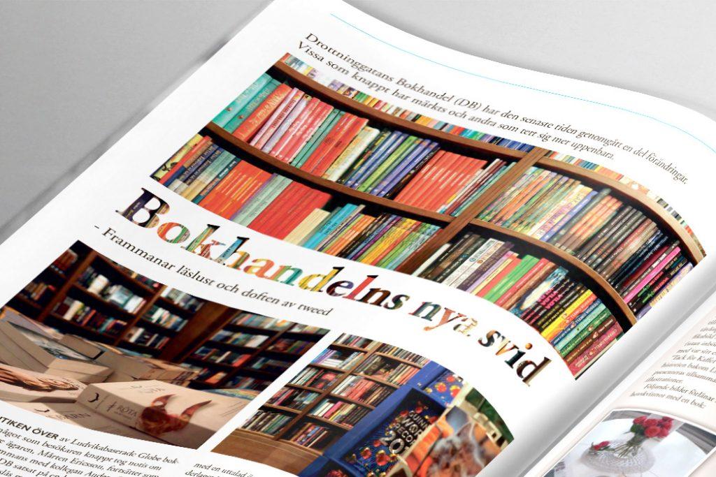 Uppsalamagasinet Luthagsnytt tidningsdesign formgivning