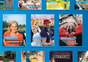 Magasin Tidning Design Omslag Formgivning