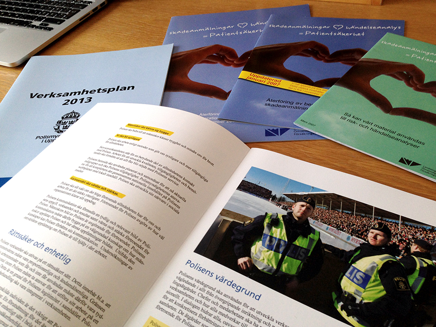 verksamhetsplan rapport styrdokument broschyr